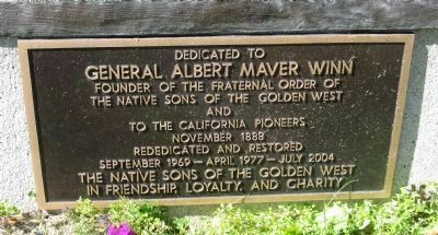 General Albert Maver Winn Marker Photo, Click for full size