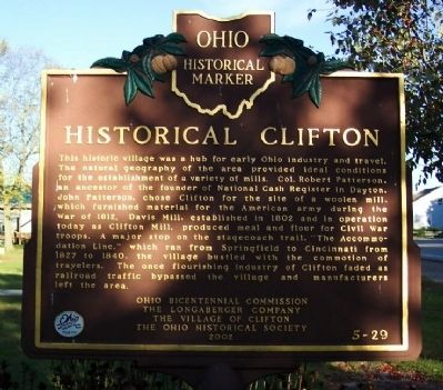 Historical Clifton Marker image. Click for full size.