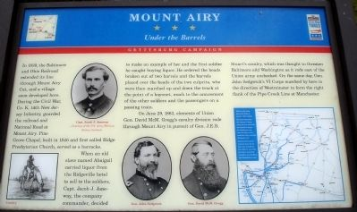 Civil War Trails Mount Airy Marker image. Click for full size.