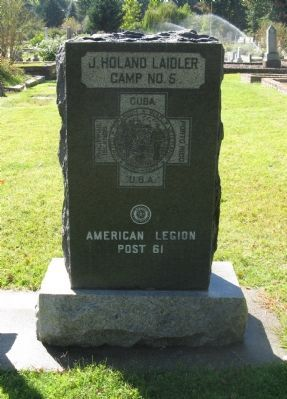 J. Holland Laidler Camp No. 5 Monument image. Click for full size.