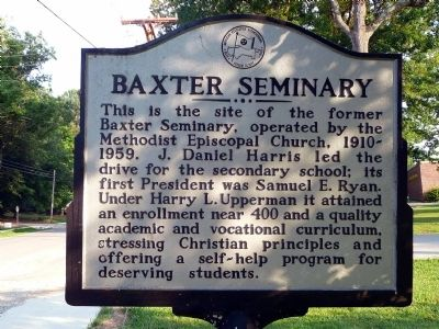 Baxter Seminary Marker Photo, Click for full size