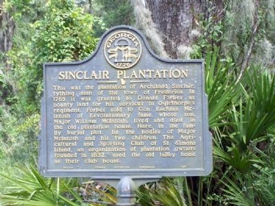 Sinclair Plantation Marker image. Click for full size.