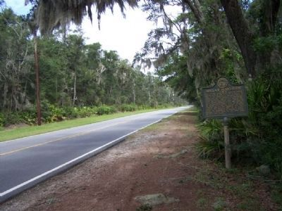 Sinclair Plantation Marker, looking north on Lawrence Rd image. Click for full size.
