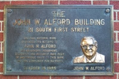The John W. Alford Building Marker image. Click for full size.
