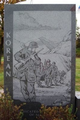 Korean War Engraving image. Click for full size.