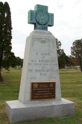 Sunset Cemetery Spanish-American War Monument image. Click for full size.