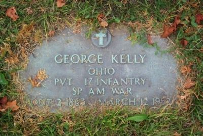 George Kelly Grave Marker, Section 9 image. Click for full size.