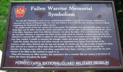 Memorial Symbolism Panel Photo, Click for full size