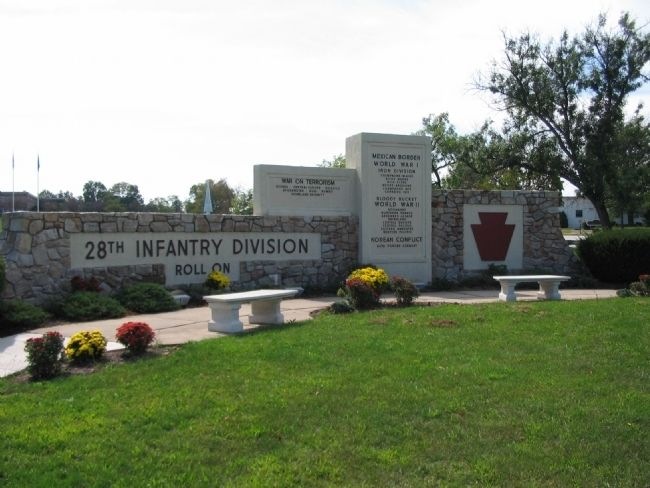 28th Division Memorial Photo, Click for full size