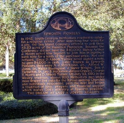 """Epworth Pioneers"" -- Reverse side of Epworth By The Sea Marker image. Click for full size."
