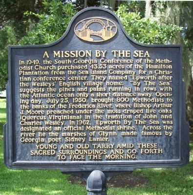 A Mission By The Sea Marker image. Click for full size.