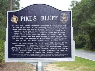 Pike's Bluff Marker image. Click for full size.