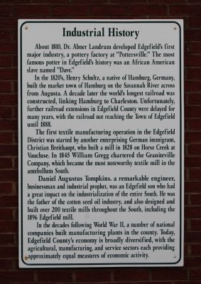 Industrial History Marker image. Click for full size.