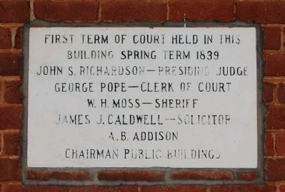 First Term of Court Marker Photo, Click for full size