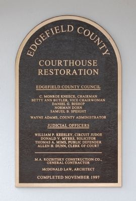 Edgefield County<br>Courthouse Restoration Photo, Click for full size