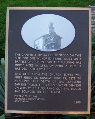 Granville Opera House Marker image. Click for full size.