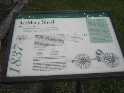 Artillery Shed Marker image. Click for full size.