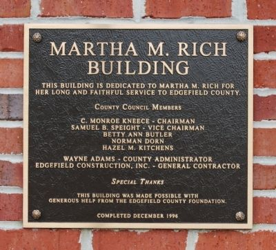 Martha M. Rich Building Marker image. Click for full size.