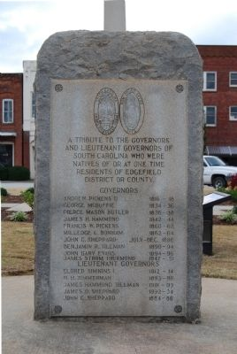 Governors and Lieutenant Governors from Edgefield Marker image. Click for full size.