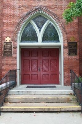 Saint John's Episcopal Church Entrance image. Click for full size.