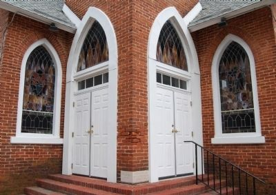 Edgefield United Methodist Church -<br>Front Entrance image. Click for full size.