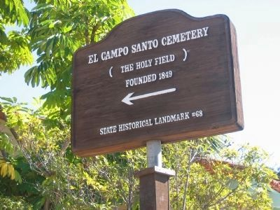 El Campo Santo (The Holy Field) Direction Sign on San Diego Avenue image. Click for full size.