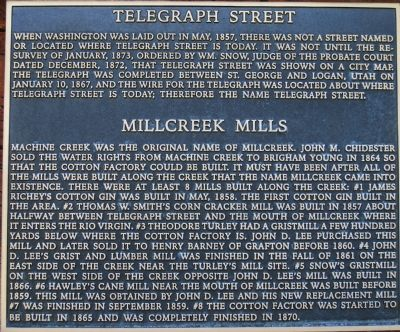 Millcreeek Mills Marker image. Click for full size.