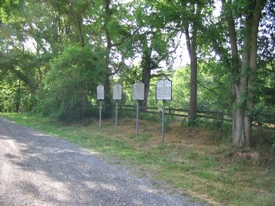 Four Markers at Dover, VA Photo, Click for full size