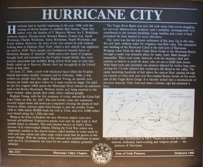 Hurricane City Marker image. Click for full size.