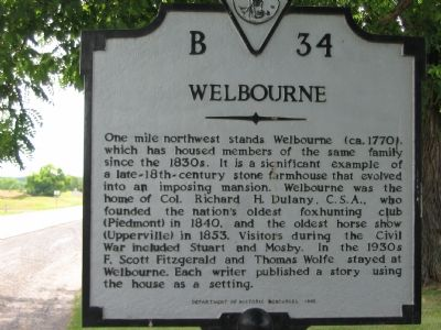 Welbourne Marker image. Click for full size.