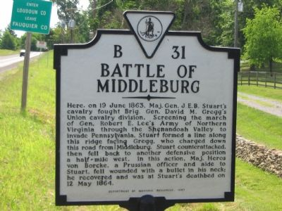 Battle of Middleburg Marker Photo, Click for full size