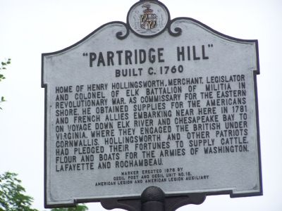 """PARTRIDGE HILL"" Built c. 1760 Marker image. Click for full size."