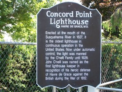 Concord Point Lighthouse Marker image. Click for full size.