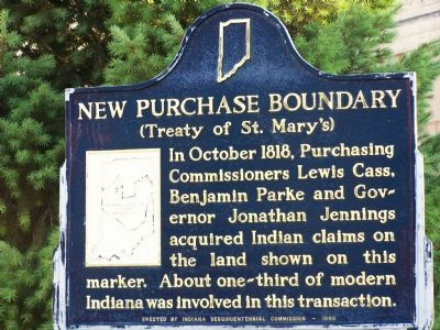 New Purchase Boundary (Treaty of St. Mary's) Marker image. Click for full size.