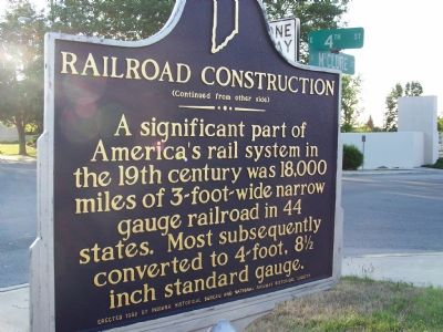 Railroad Construction Marker (side two) image. Click for full size.