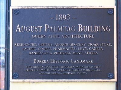 August Palmtag Building Marker Photo, Click for full size