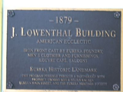 J. Lowenthal Building Marker Photo, Click for full size