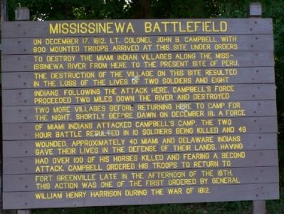 Mississinewa Battlefield Marker Photo, Click for full size