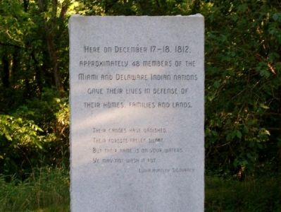 Marker placed in honor of the Indians Photo, Click for full size