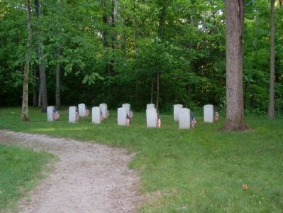 Graves of the U.S. soldiers who lost their lives. image. Click for full size.