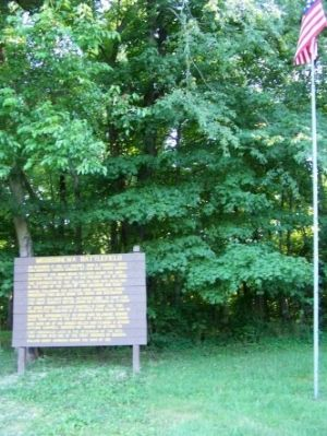 Mississinewa Battlefield Marker image. Click for full size.