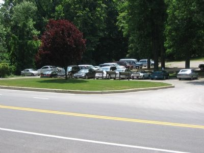 Three Maryland Civil War Trails Markers in the Inn's Parking Lot Photo, Click for full size