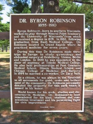 Dr. Byron Robinson Marker image. Click for full size.