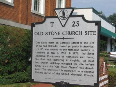 Old Stone Church Site Marker Photo, Click for full size