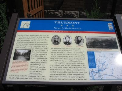 Thurmont - Formerly Mechanicstown Marker image. Click for full size.