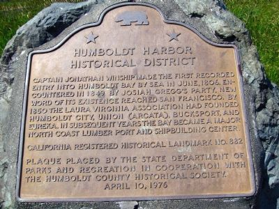 Humboldt Harbor Historical District Marker Photo, Click for full size