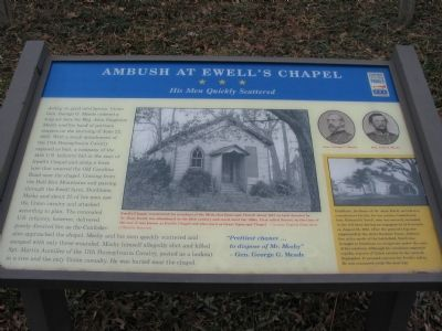 Ambush at Ewell's Chapel Marker image. Click for full size.