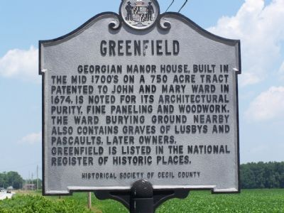 Greenfield Marker Photo, Click for full size