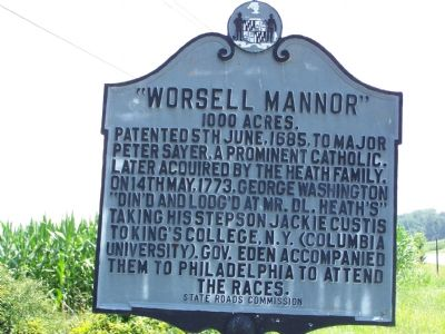 """Worsell Mannor"" Marker image. Click for full size."