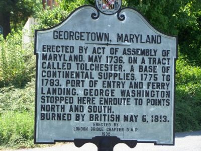 Georgetown, Maryland Marker image. Click for full size.
